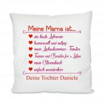 Kissen mit Motiv Modell: Meine Mama ist...