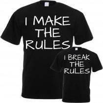 Familienshirts in schwarz oder weiß für Eltern und Kinder - The Rules