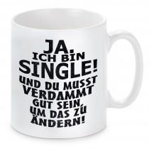 Tasse Modell: Ja ich bin Single