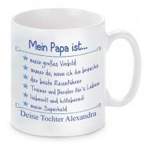 Tasse Modell: Mein Papa ist...