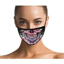 Maske Masken mit Totenkopf und Blumen