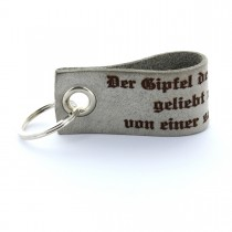 Gravur Leder Schlüsselanhänger - Lieblingsmensch 7 cm