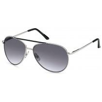 Sonnenbrille - Farbe silber/schwarz, Scheibe dkl. grau