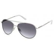 Sonnenbrille - Farbe silber/weiß, Scheibe dkl. grau