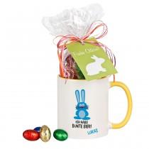 Ostertasse - bunte Eier - personalisiert