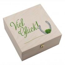 """Hufeisen-Box mit Motiv """"Viel Glück"""""""