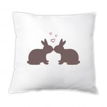 Osterkissen - küssende Hasen - mit Herzen