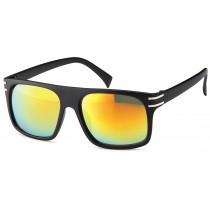 Sonnenbrille - Farbe schwarz, Gläser rotverspiegelt