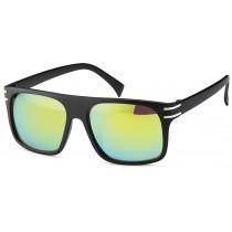 Sonnenbrille - Farbe schwarz, Gläser grünverspiegelt