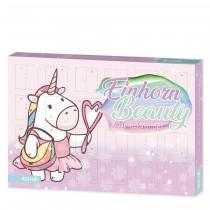 Einhorn Beauty-Adventskalender mit 24 zauberhaften Accessoires für Teens