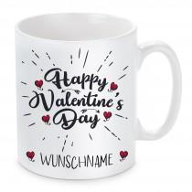Tasse mit Motiv - Happy Valentine's Day (personalisierbar)