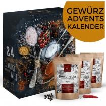 Gewürz-Adventskalender, Weihnachtskalender mit 24 edlen Gewürzspezialitäten