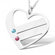 Herzkette mit 2 Wunschnamen, Halskette