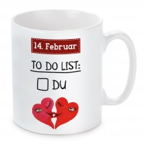 Tasse: 14. Februar To-do-List.
