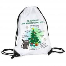Turnbeutel Modell: Wie deine Katze den Weihnachtsbaum sieht...