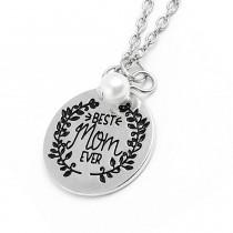 """Halskette mit Anhänger """"Best mom ever"""""""