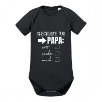 Babybody Modell: Checkliste für Papa.