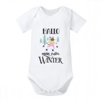 Babybody - Modell: Hallo mein erster Winter (Mädchen)