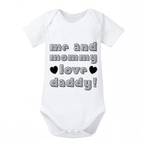 Babybody Modell: me and mommy love daddy!
