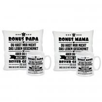 Kissen oder Tasse: BONUS PAPA / MAMA