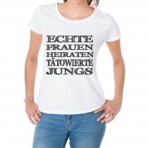 Damen T-Shirt Modell: Echte Frauen