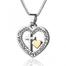 """Halskette mit Anhänger """"faith hope love"""""""