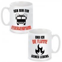 """Partnertassen """"Der Feuerwehrmann und seine Flamme"""" 2"""