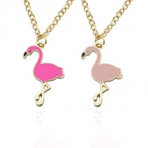 Halskette mit Flamingo Anhänger