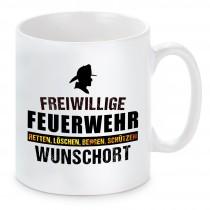 """Tasse mit Motiv - Feuerwehr """"Wunschort"""""""