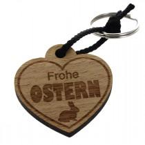Gravur Schlüsselanhänger aus Holz - Frohe Ostern