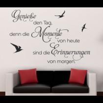Wandtattoo Wandspruch Genieße den Tag...