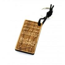 Gravur Schlüsselanhänger aus Holz Modell: Großartige Mutter