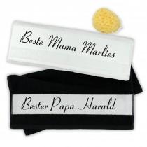 """Handtuch Set """"Beste Mama & Bester Papa"""" mit Namen"""