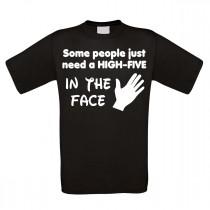 Funshirt weiß oder schwarz - high-five