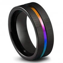 Damenring, Ring, Titanring, Regenbogen