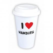 "Coffee-to-Go-Becher mit Motiv ""I love Hamburg"""