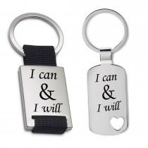 Schlüsselanhänger: I can and I will