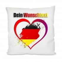 Kissen mit Motiv Modell: Deutschland Herz