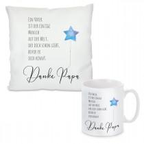 Kissen oder Tasse mit Motiv Modell: Danke Papa