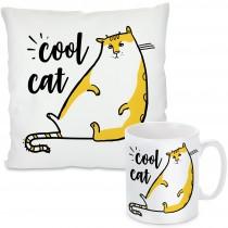Kissen oder Tasse: Cool Cat