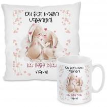 Kissen oder Tasse: Du bist mein Valentin!  (personalisierbar)