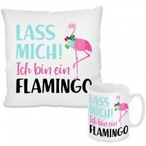 Kissen oder Tasse mit Motiv - Ich bin ein Flamingo