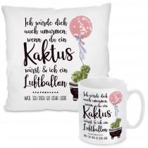 Kissen oder Tasse: Ich würde dich auch umarmen, wenn du ein Kaktus wärst......