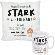 Kissen oder Tasse - Stark wie ein Löwe