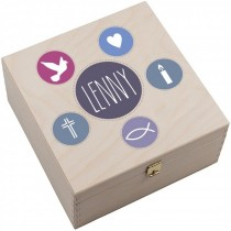 """Personalisierte Hufeisen-Box """"Kommunion/Firmung/Konfirmation"""""""