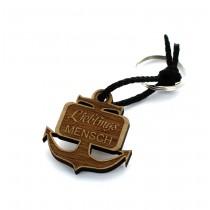 Gravur Schlüsselanhänger aus Holz - Modell: Anker