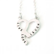 Halskette silberfarben Modell: Live - Laugh - Love