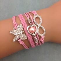 Unendlichkeits Armband Modell: Schmetterling - Herz - Infinity