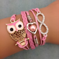 Unendlichkeits Armband Modell: Eule - Herz - Infinity