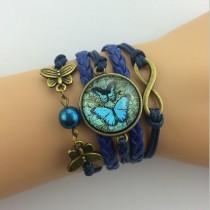 Unendlichkeits Armband Modell: Schmetterling - Scheibe - Infinity